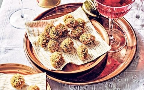 Fried stuffed olives with anchovy recipe