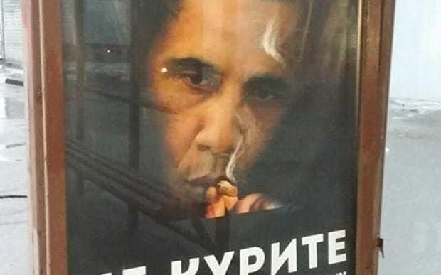 Russian anti-smoking advert says 'Don't be like Obama'