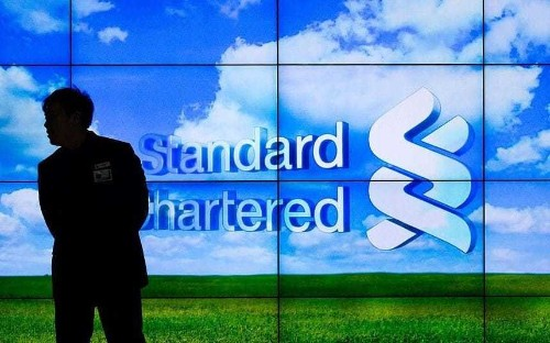 Shares in Standard Chartered plunge after bank reports $1.5bn loss