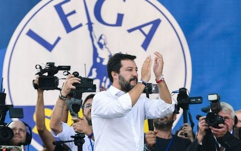 Matteo Salvini starts series of rallies in first salvo of anti-government protests
