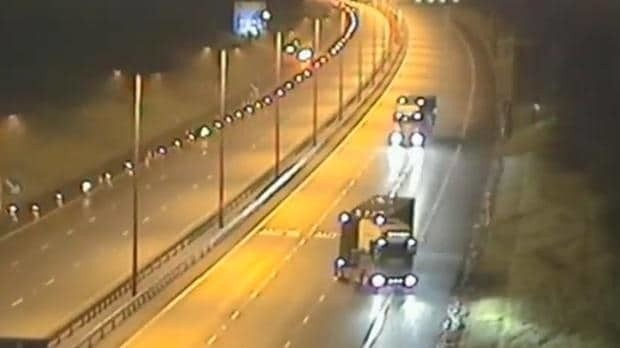 Shocking footage shows drunk lorry driver reversing into oncoming traffic on M6