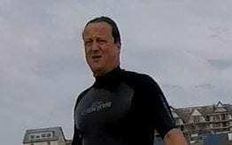 David Cameron spotted swimming in water with raw sewage contamination warning