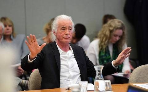Nobody's fault but mine? Jimmy Page could face fresh planning woes after quarrel with Robbie Williams