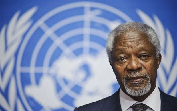 Kofi Annan claims it is too late for outside intervention in Syria