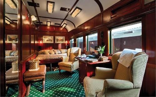 Luxury train suites around the world