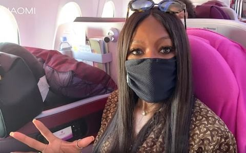 Naomi Campbell wears a face mask on a plane – so should you?
