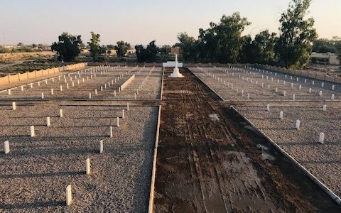 Graves of British WWII heroes finally restored after being left to crumble in the Iraqi desert for decades