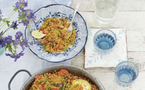 Deliciously Ella's pea and cauliflower bowl