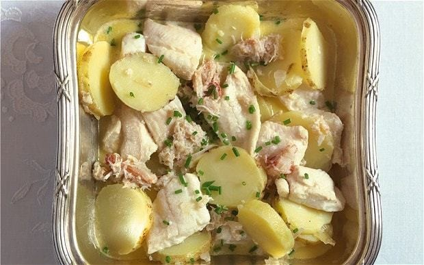 Plaice and potato in butter sauce recipe