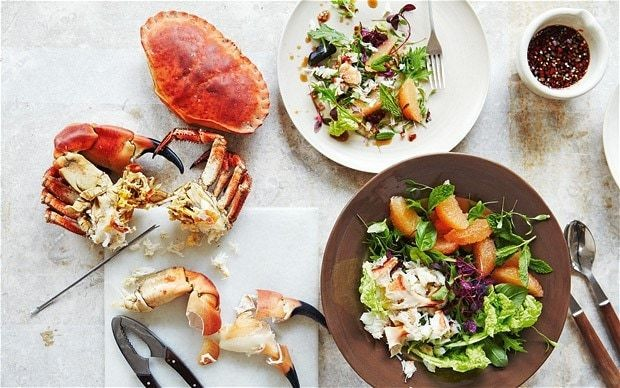 Thai crab and grapefruit salad recipe
