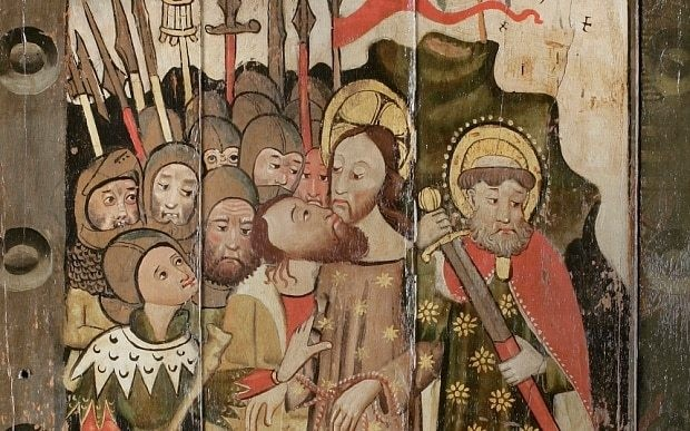 'Rarest' medieval panel painting saved by recycling