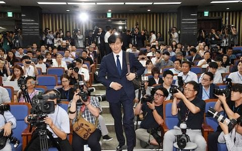 South Korean justice minister nominee stages 11-hour press conference amid ethics accusations