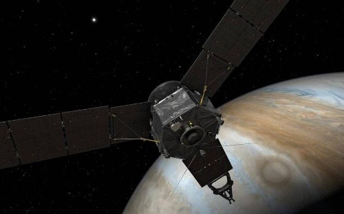 Is Jupiter just a ball of gas? Nasa's Juno spacecraft arrives at 'biggest, baddest' planet in solar system