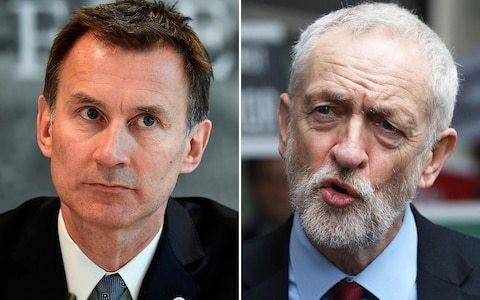 Clash of Jeremys as Hunt tears into 'Marxist' Corbyn over austerity in fiery online row
