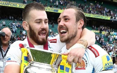 England duo Jack Nowell and Luke Cowan-Dickie have been a double act since they were five, and still live next door to each other