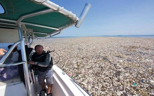 Shocking photo shows Caribbean Sea being 'choked to death by human waste'