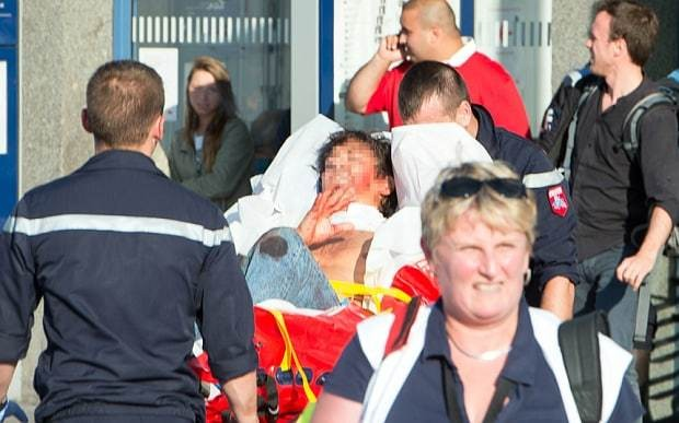 US servicemen hailed as heroes for stopping French train gunman