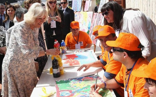 Duchess of Cornwall visits mural of mafia symbols as she joins Prince Charles on Royal tour of Europe