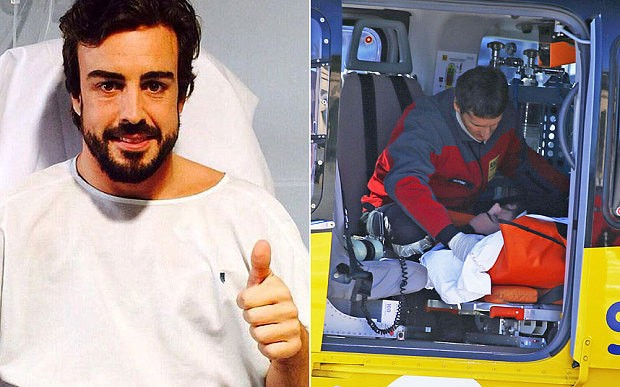 Fernando Alonso 'thought he was in 1995' after pre-season crash