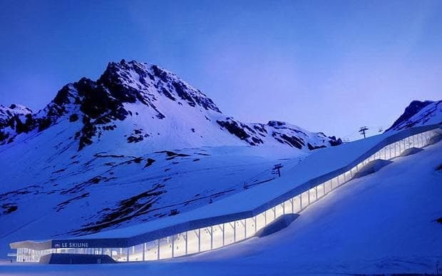 Why is a leading Alpine ski resort building an indoor slope?