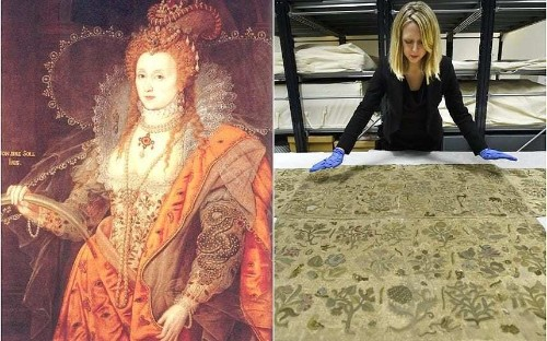 Queen Elizabeth I's long-lost skirt to go on display after being found on a church altar in Herefordshire