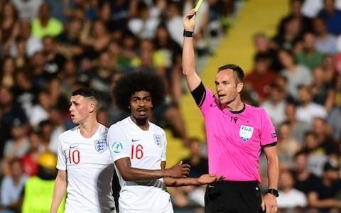 Hamza Choudhury says sorry to England U21 team-mates and France's Jonathan Bamba for wild red-card tackle