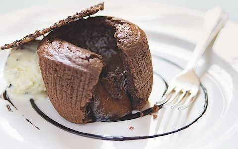 Dark chocolate fondant