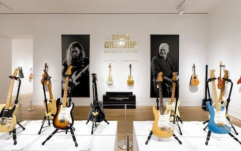 David Gilmour guitar sells for record breaking £3.13m to American football billionaire
