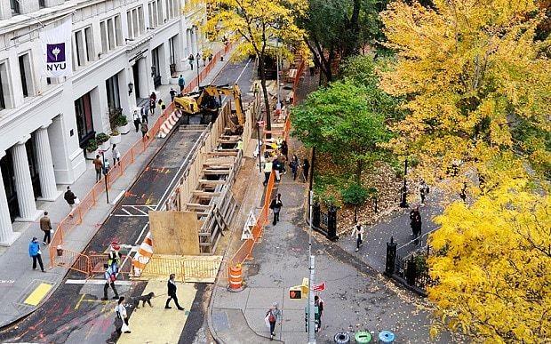 Burial vaults found underneath New York City park
