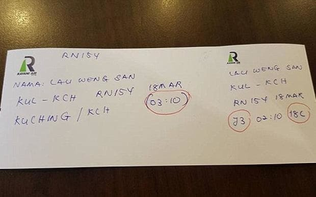 Shariah airline under fire for issuing handwritten boarding passes