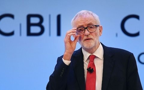 Jeremy Corbyn challenged at CBI to prove Labour isn't 'for the many but not the Jew'