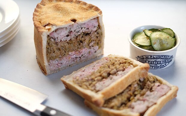 Caramelised leek and fennel pork pie recipe