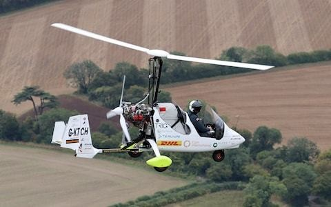 Scout ambassador nearly killed by lightning on solo flight in open-cockpit gyrocopter says teenagers should stop being scared of failure