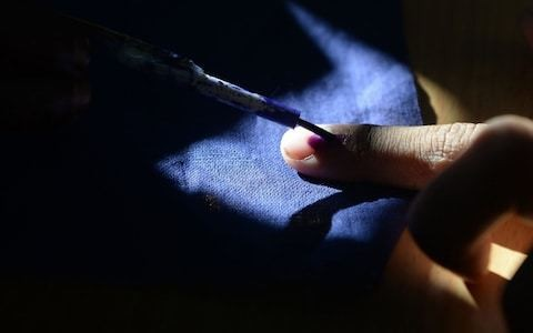 Man chops off his finger in India after voting for wrong party
