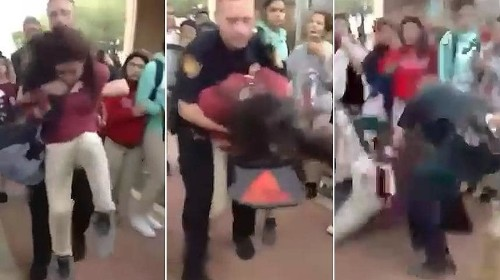 Shocking video shows school police officer body slamming a 12-year-old girl in Texas