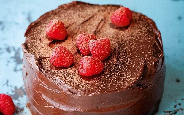 Raw cacao, avocado and raspberry cake recipe