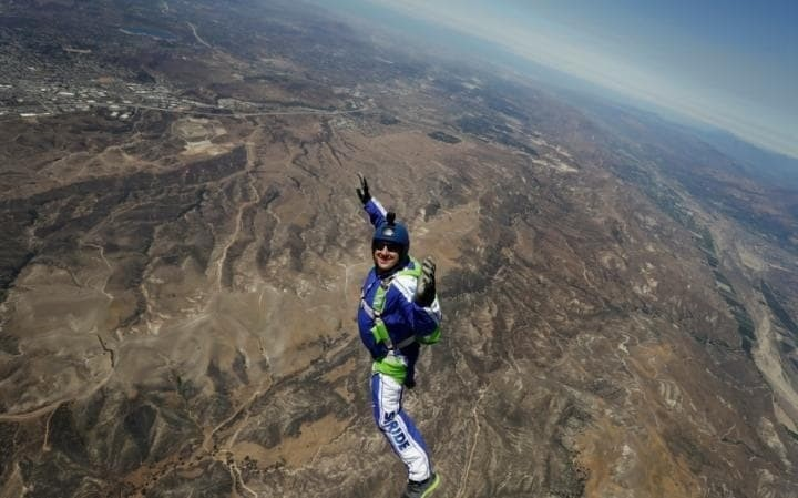 Skydiver makes history by jumping 25,000 feet into a net without a parachute