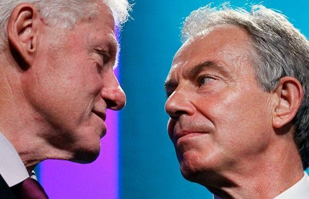 Why Twitter users are sharing an imagined tale of Tony Blair punching ham with Bill Clinton