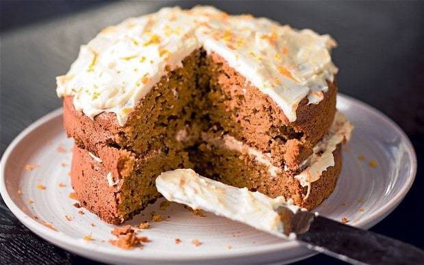 Olive oil recipes: carrot and parsnip cake
