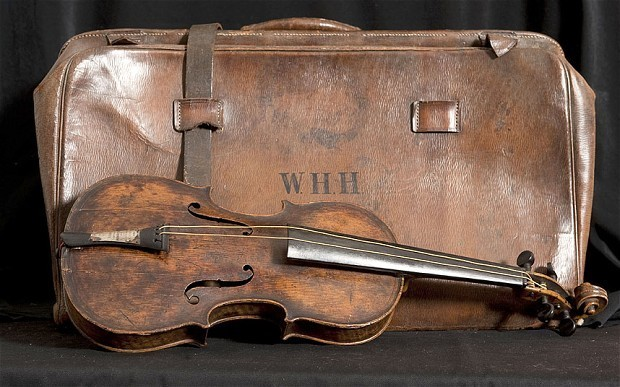 Violin played on Titanic revealed for first time