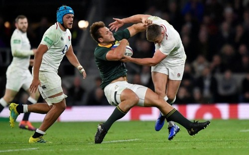 England vs South Africa referee admits he should have penalised Owen Farrell for 'no-arms' tackle