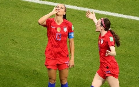 Alex Morgan: Why are people angry at me sipping tea when men can grab their genitals in celebration