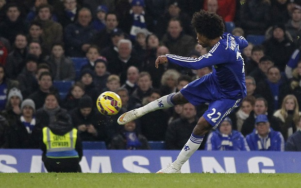 Chelsea 1 Everton 0: Willian seals it at the death for Chelsea