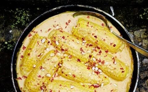 Gujarati corn on the cob curry recipe