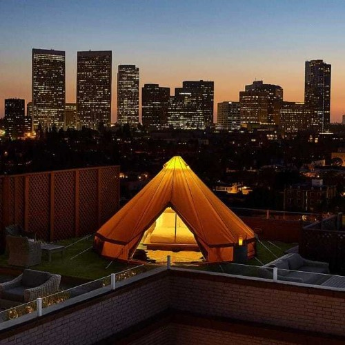 The penthouse yurt: the glamping experience luring LA urbanites outdoors