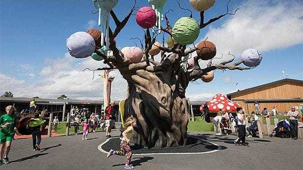 Theme park with giant ice cream tree named one of Britain's top attractions