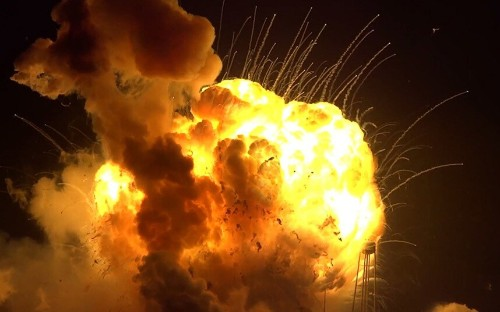 Nasa's Antares rocket explodes seconds after lift off in Virginia, in pictures - Telegraph