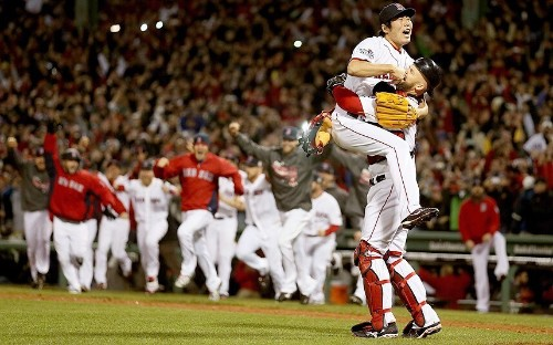 Boston Red Sox party into the night after World Series victory: in pictures - Telegraph
