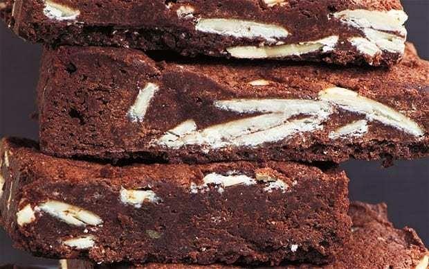 Dark and white chocolate brownies recipe