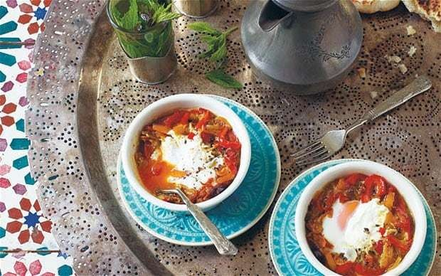 Baked Moroccan eggs recipe